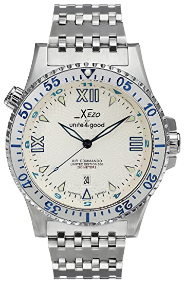 Reloj automático Air Commando Xezo de lujo para Unite4:good, con cristal de zafiro suizo, movimiento Citizen, 20 ATM. Serie: Xezo: Amazon.es: Relojes