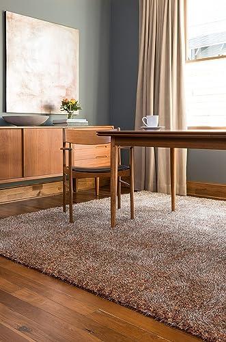 Loloi Callie Collection Shag Area Rug, 9-Feet 3-Inch by 13-Feet, Rust Multicolor