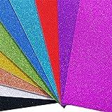 Fogli Glitterati Carta Glitter Cartoncini Scrapbooking A4 10 pz Fogli Glitter Cartoncini Glitter Colorati A4 Carta Glitterata Vivace Fogli Colorati Glitter DIY Glitterati per Bricolage Lavoretti