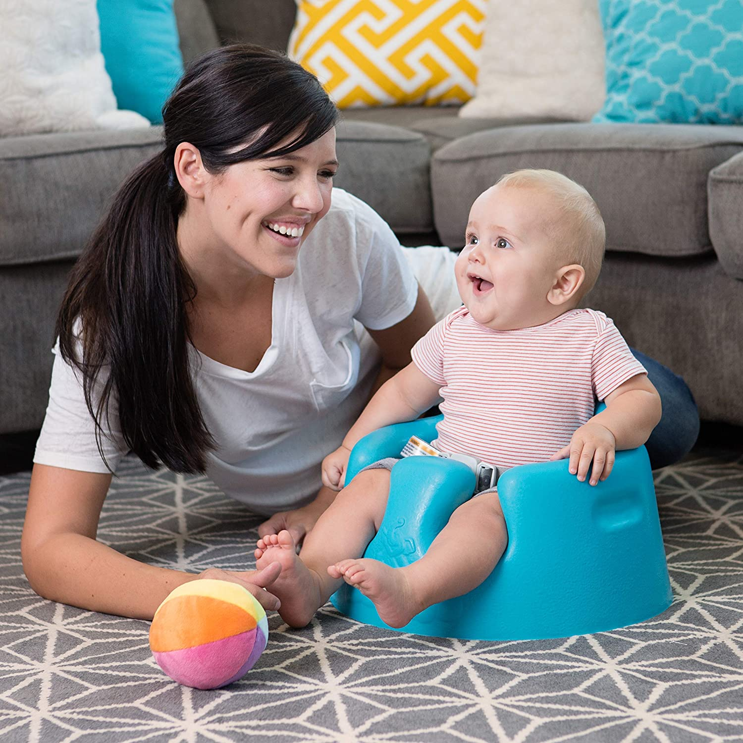 Amazoncom Bumbo Floor Seat Blue Infant Sitting Chairs Baby