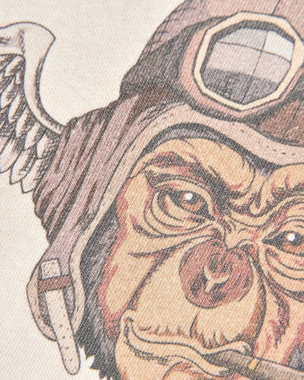Top Gun Smoking Monkey Dark Beige Sweatshirt Dark Beige