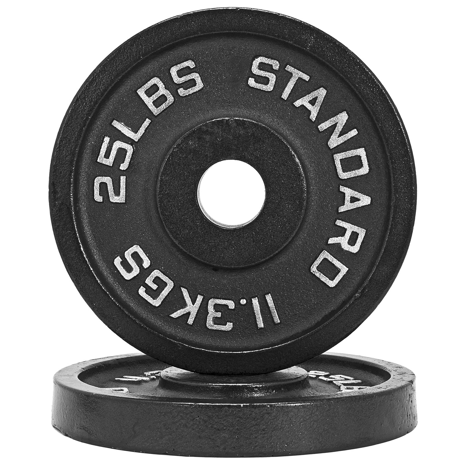 Fringe Sport 1.25lb - 45lb Iron Weight Plate Pairs/Weightlifting, Powerlifting, Other Strength Training Equipment (25)