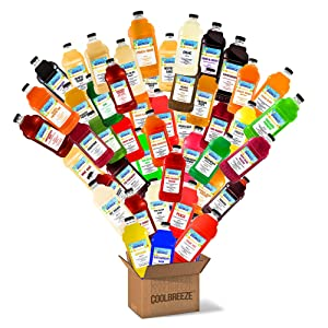 Coolbreeze Beverages [Pick Five Flavors] Frozen Drink Machine Granita Slush Mix - Premium Shelf Stable Ready To Use Slushie Flavor Syrups - Pick 5 Bottles