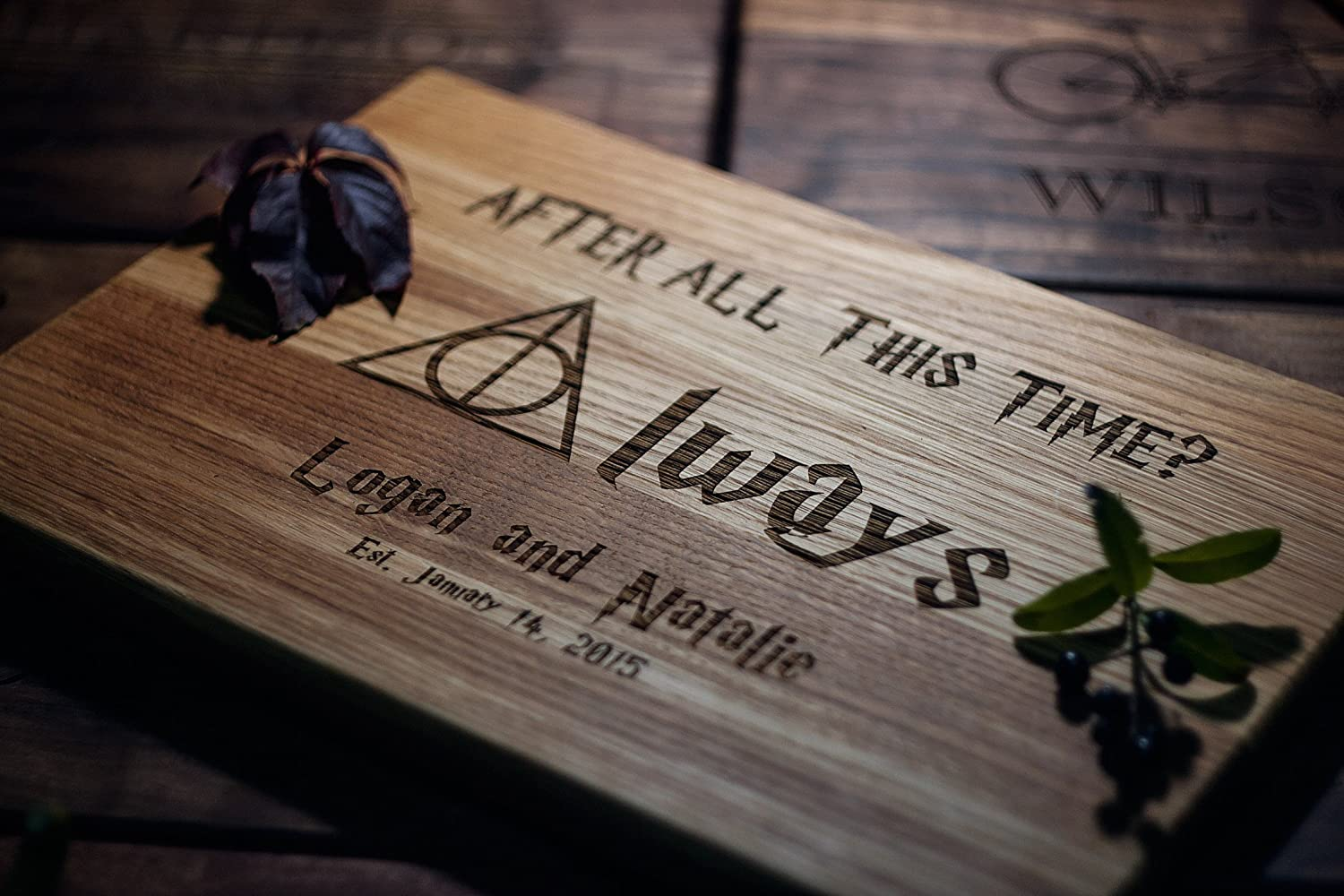 Always Harry Potter After all this time Snape Custom Personalized Engraved Cutting Board Wedding Gift, Anniversary Housewarming Gift Birthday Corporate harry05