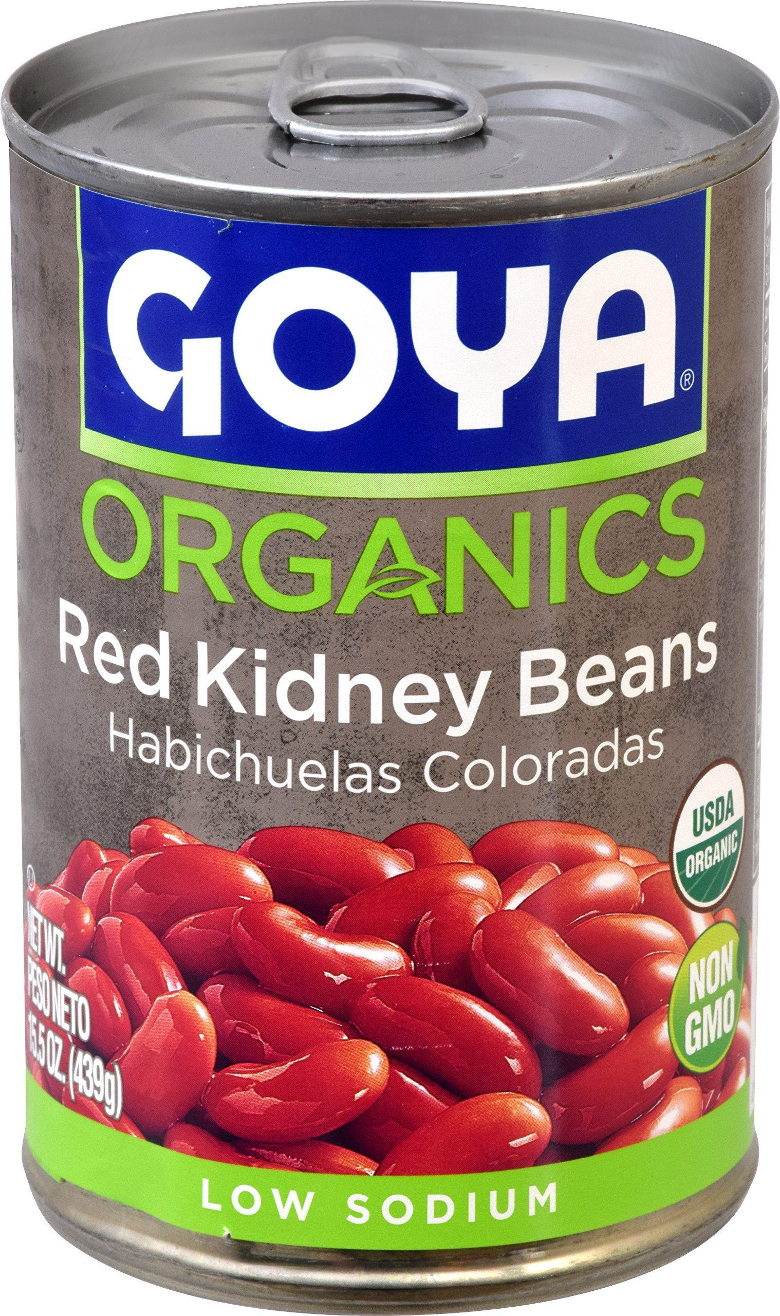 Goya Foods Organics Red Kidney Beans Low Sodium, 15.5 oz by Goya