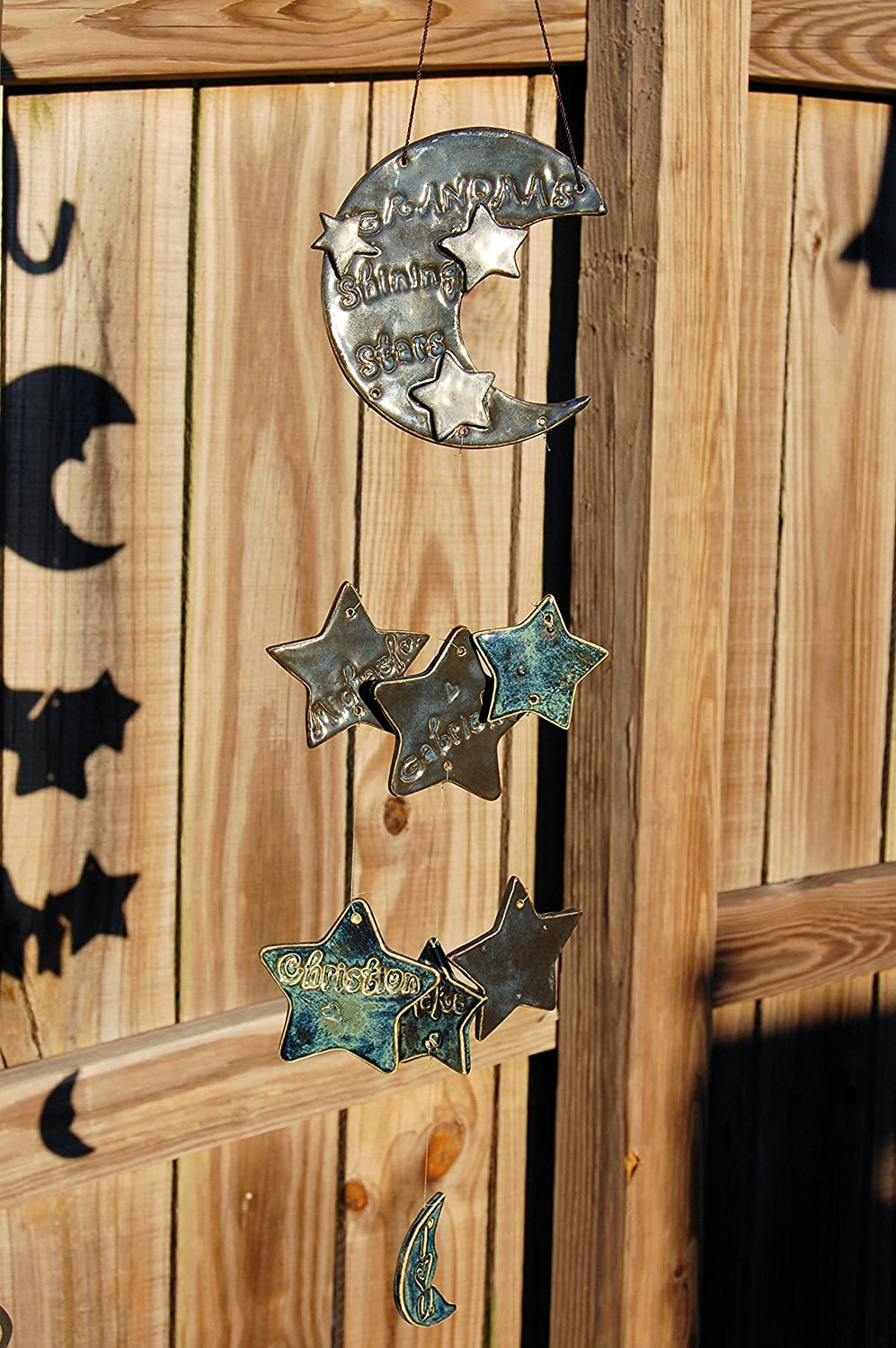 B016CDY2SY Grandma's Shining Stars Custom Wind Chime--Made to Order 912Clr5Bc2L