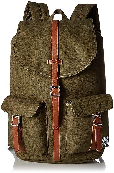 19f56d771a38e Herschel Dawson Backpack Rucksack 42.5 cm ivy Green slub tan Synthetic  Leather