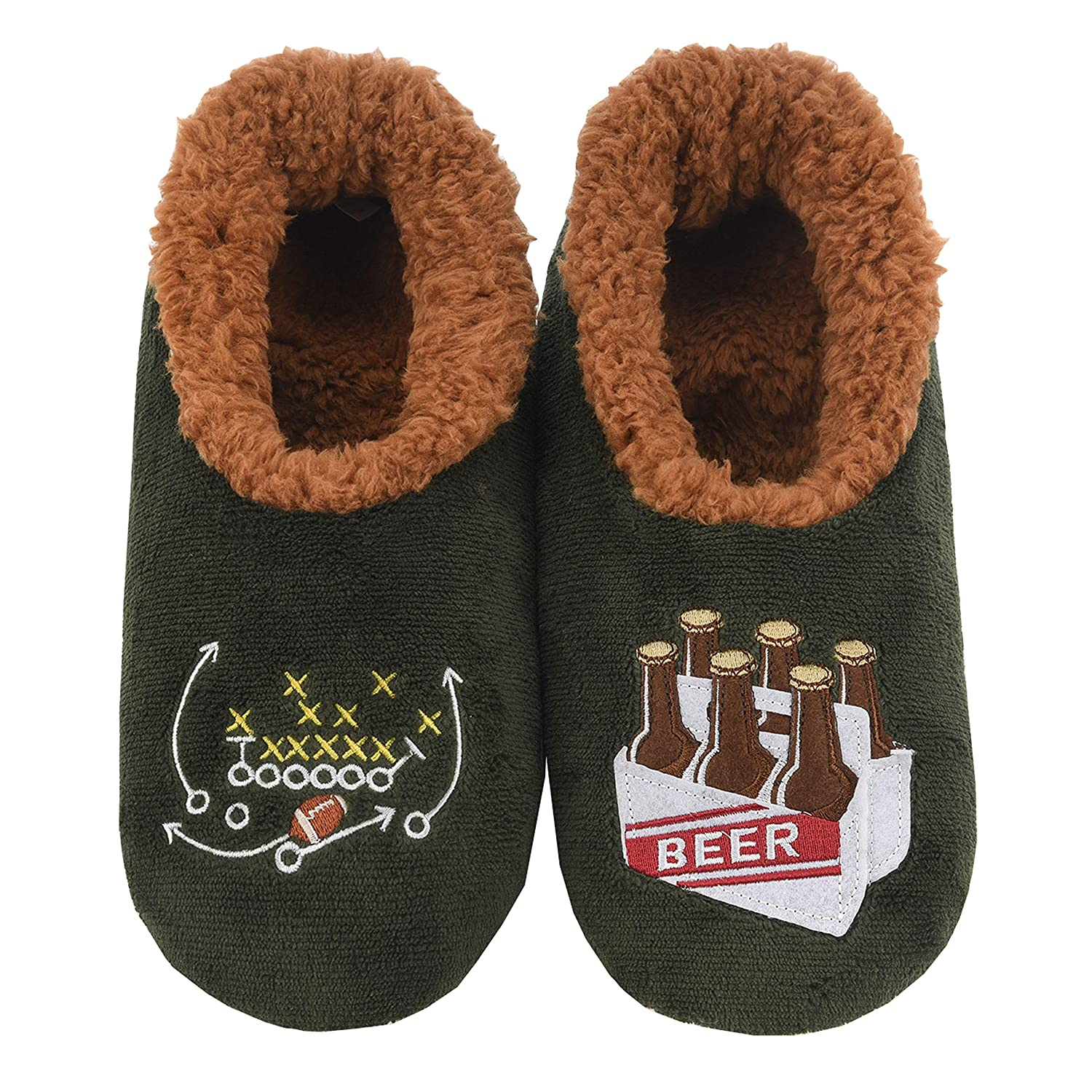 Multiple Sizes and Styles Comfortable Slippers for Men Soft Sole Mens House Slippers Snoozies Mens Pairable Slippers Fuzzy Mens Slipper Socks
