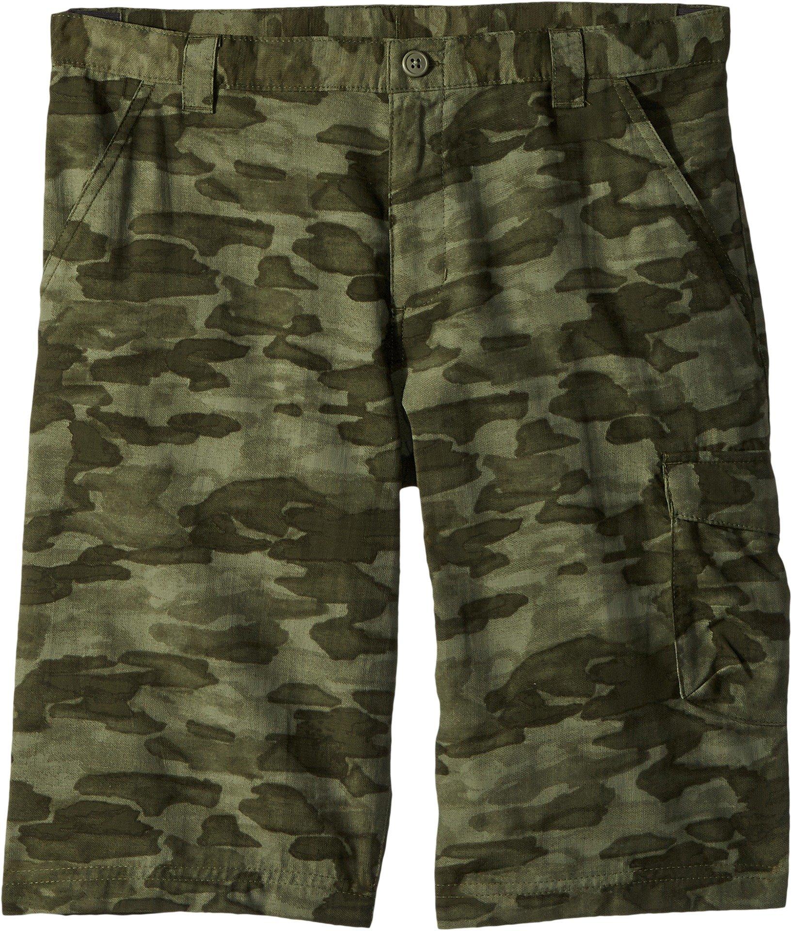 Columbia Boys Silver Ridge Printed Shorts, Cypress Camo, Large