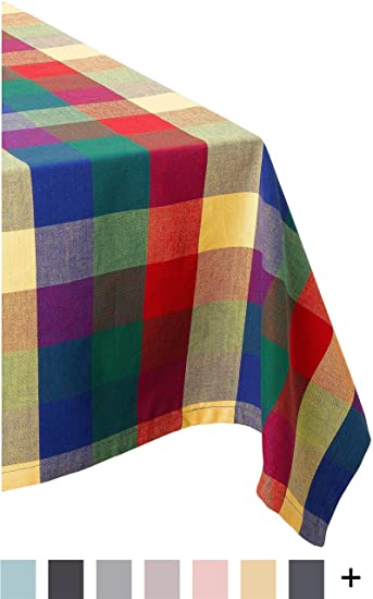 DII 100% Cotton, Machine Washable, Dinner, Summer U0026 Picnic Tablecloth 52 X