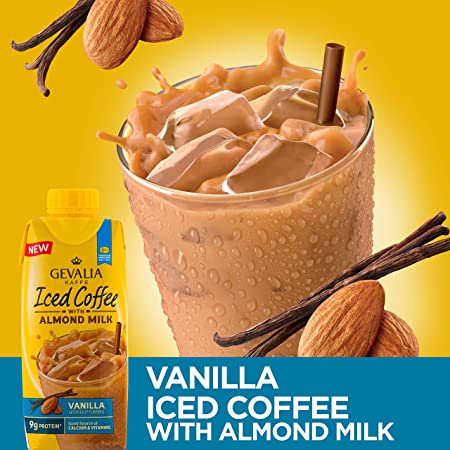 Amazon.com : Gevalia Kaffe Iced Coffee with Almond Milk, Vanilla, 11.1 oz : Grocery & Gourmet Food