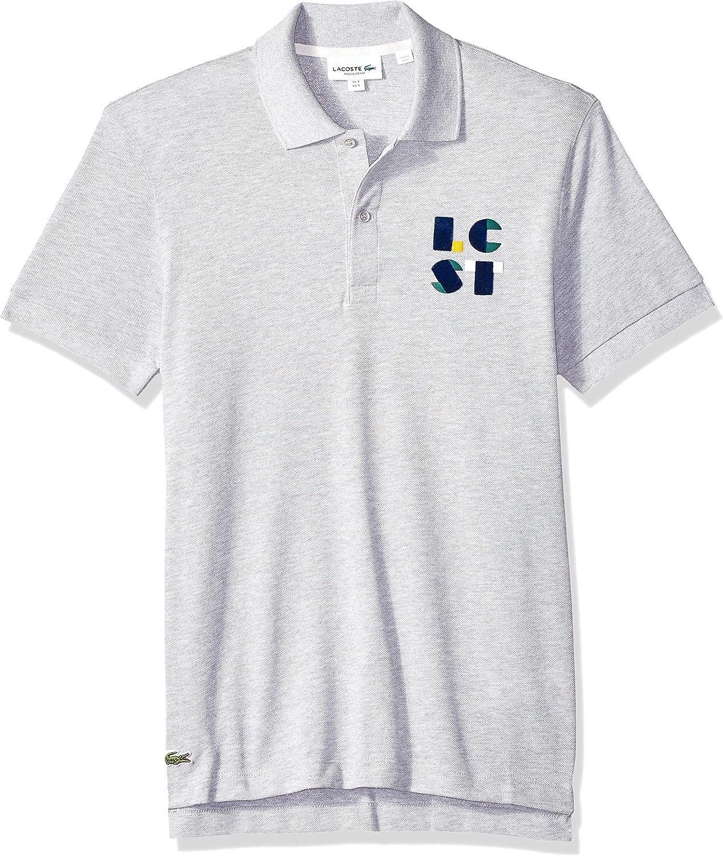 Lacoste Hombre PH9402-51 Manga Corta Camisa Polo - Gris - XX-Large: Amazon.es: Ropa y accesorios