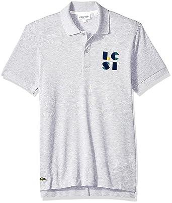 Lacoste Hombre PH9402-51 Manga Corta Camisa Polo - Gris - XX-Large ...