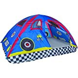 Pacific Play Tents Kids Rad Racer Bed Tent Playhouse - For Full Size Mattress