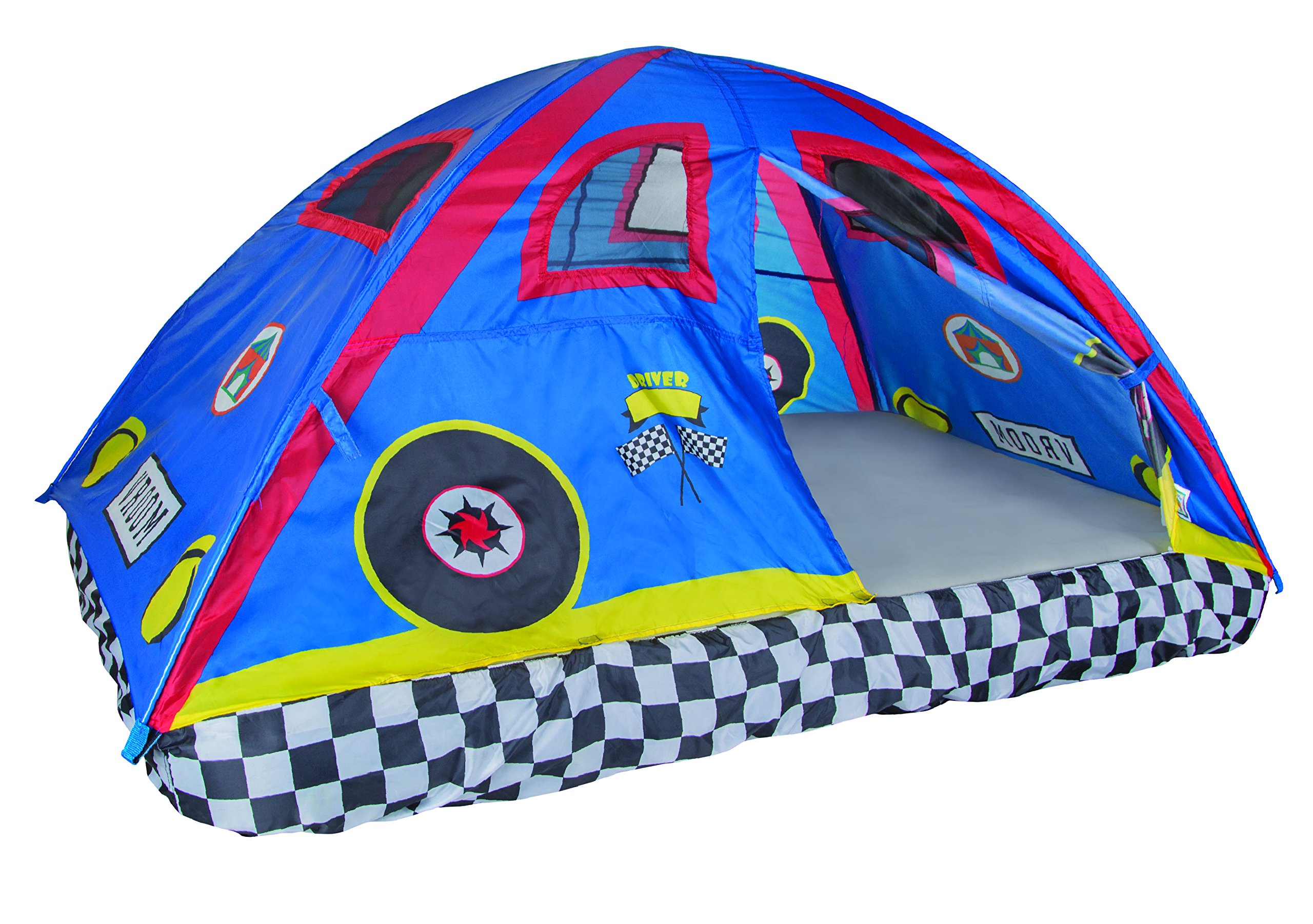 Pacific Play Tents 19711 Kids Rad Racer Bed Tent Playhouse - Full Size Mattress by Pacific Play Tents