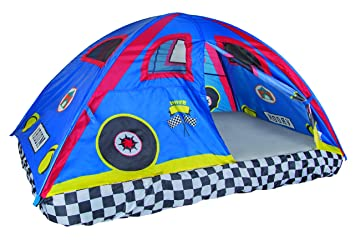 Pacific Play Tents Kids Rad Racer Bed Tent Playhouse - For Full Size Mattress  sc 1 st  Amazon.com : kids bed tent full size - memphite.com