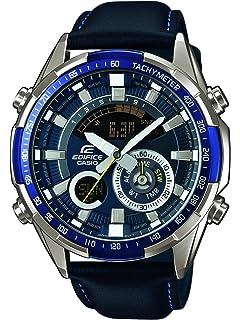 Casio Reloj Analógico-Digital para Hombre de Cuarzo con Correa en Cuero ERA-600L