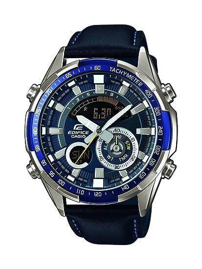 Casio Reloj Analógico-Digital para Hombre de Cuarzo con Correa en Cuero ERA-600L-2AVUEF: Amazon.es: Relojes