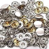 10 Pack Nickel 12 mm Spring Button Glove Snaps 1248-02