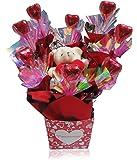 V Golden Heart Chocolates Heart Teddy Bear Bouquet with Chocolates, 65g (T4)