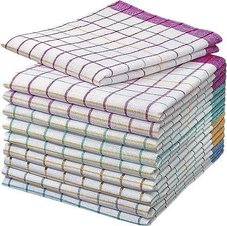 50g 100 /% Baumwolle ca je Tuch 50 x 70 cm 10 Stück  Geschirrtücher