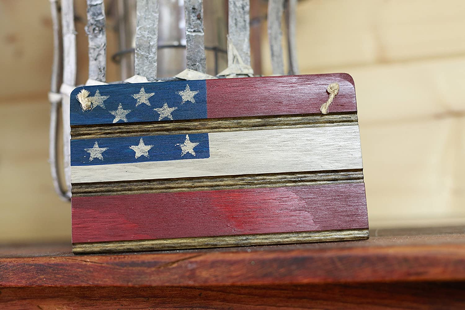 adfb3392620c Amazon.com  Americana American Flag Wooden Wall Decor. Perfect for any  Nostalgic Americana Collection and Rustic Decor. Hand Made in the Heart of  America.