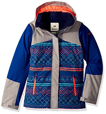 84d0919ea80e Amazon.com  Roxy Big Girls  Flicker Snow Jacket  Clothing