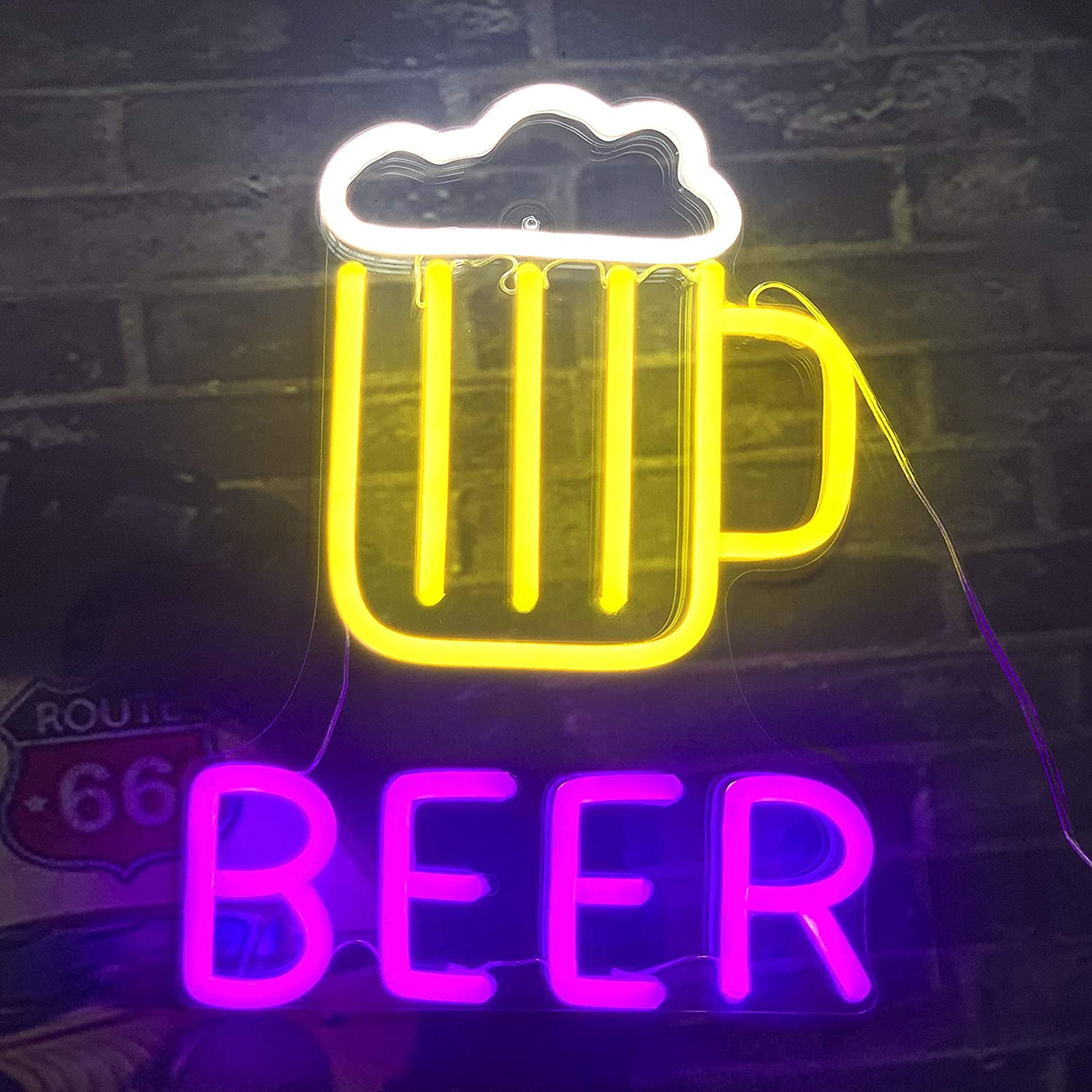 Home & Garden Plaques & Signs Game Room LED Neon Bar Sign