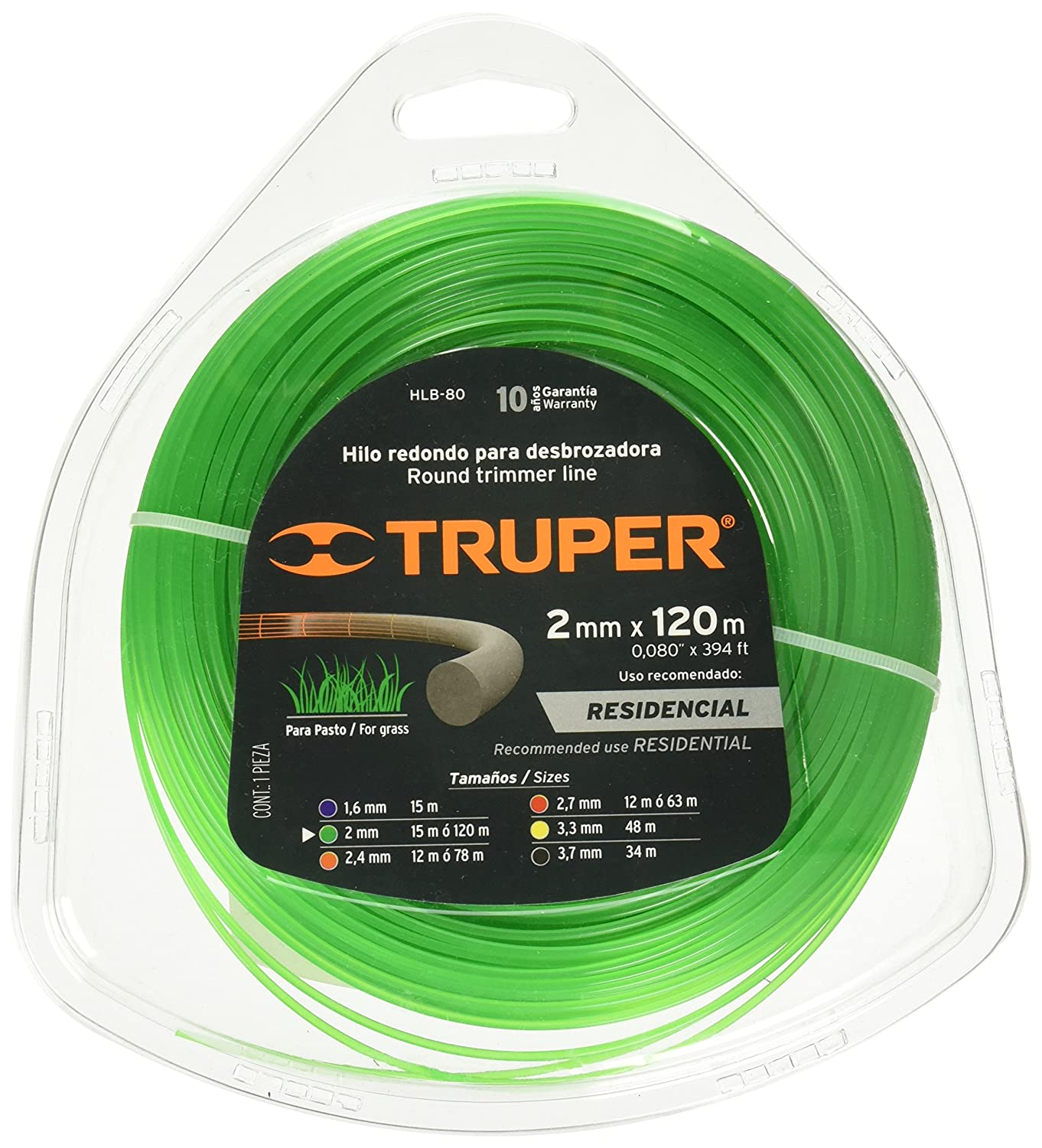 TRUPER HLB-80 Rounded Strings in Clamshell Card 5/64