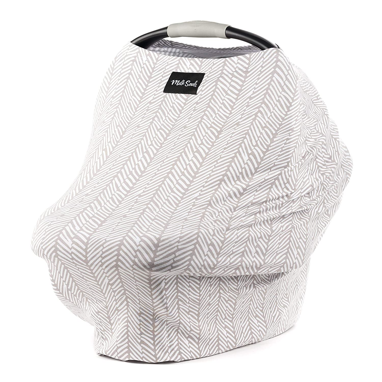 AS SEEN ON SHARK TANK The Original Milk Snob Infant Car Seat Cover and Nursing Cover Multi-Use 360/° Coverage Breathable Stretchy Herringbone
