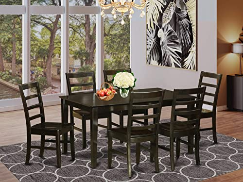 East West Furniture Kitchen Dining Table Set 7 Pc