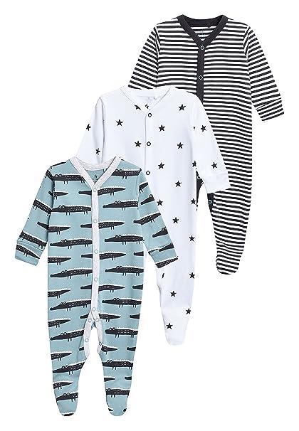 next Bebé-Niños Pack De Tres Pijamas Tipo Pelele con Motivos De Cocodrilo (0