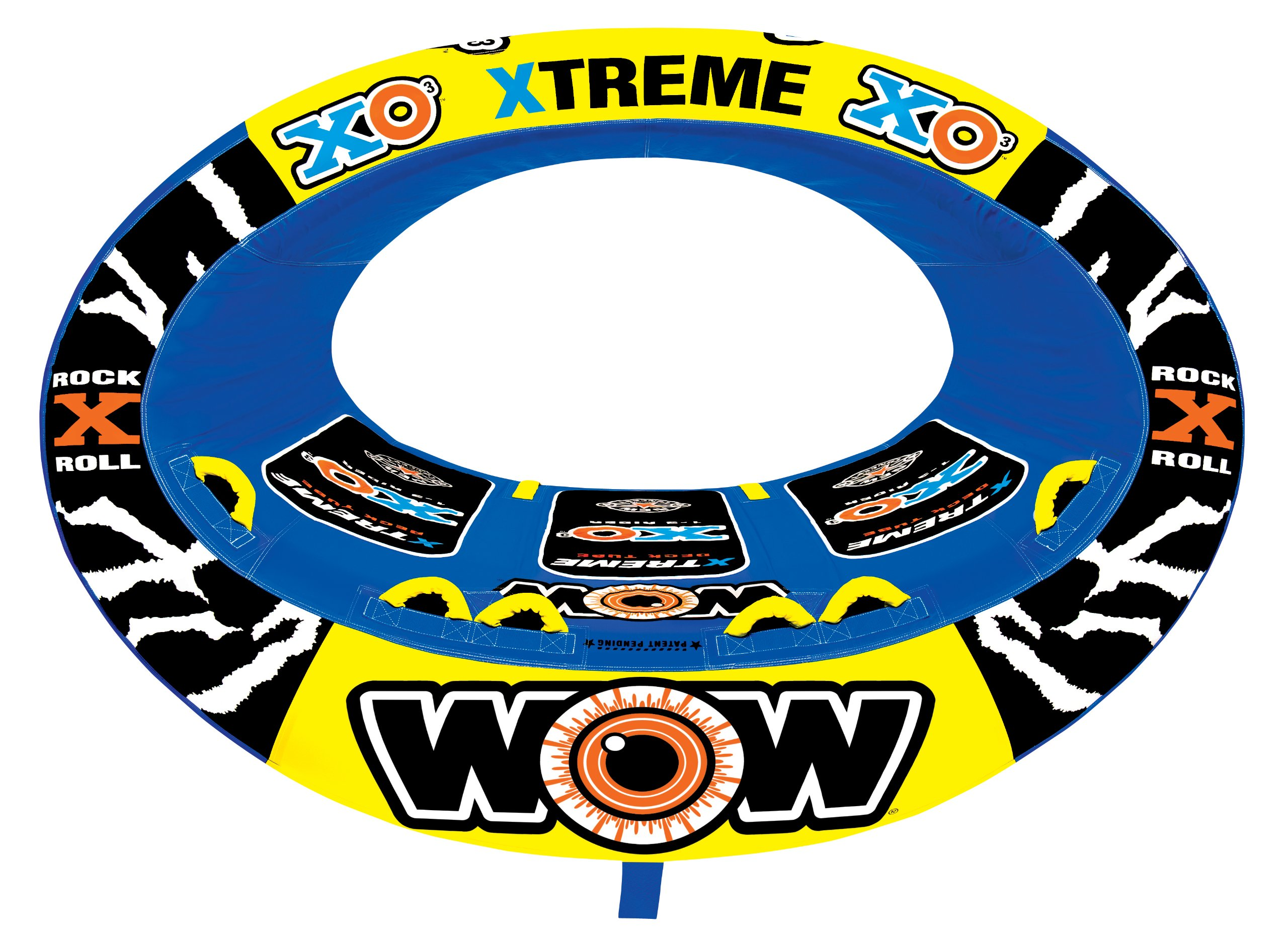 WOW World or Watersports Xtreme Inflatable Towable, Ride in Oval, 1 to 3 Persons by WOW Sports