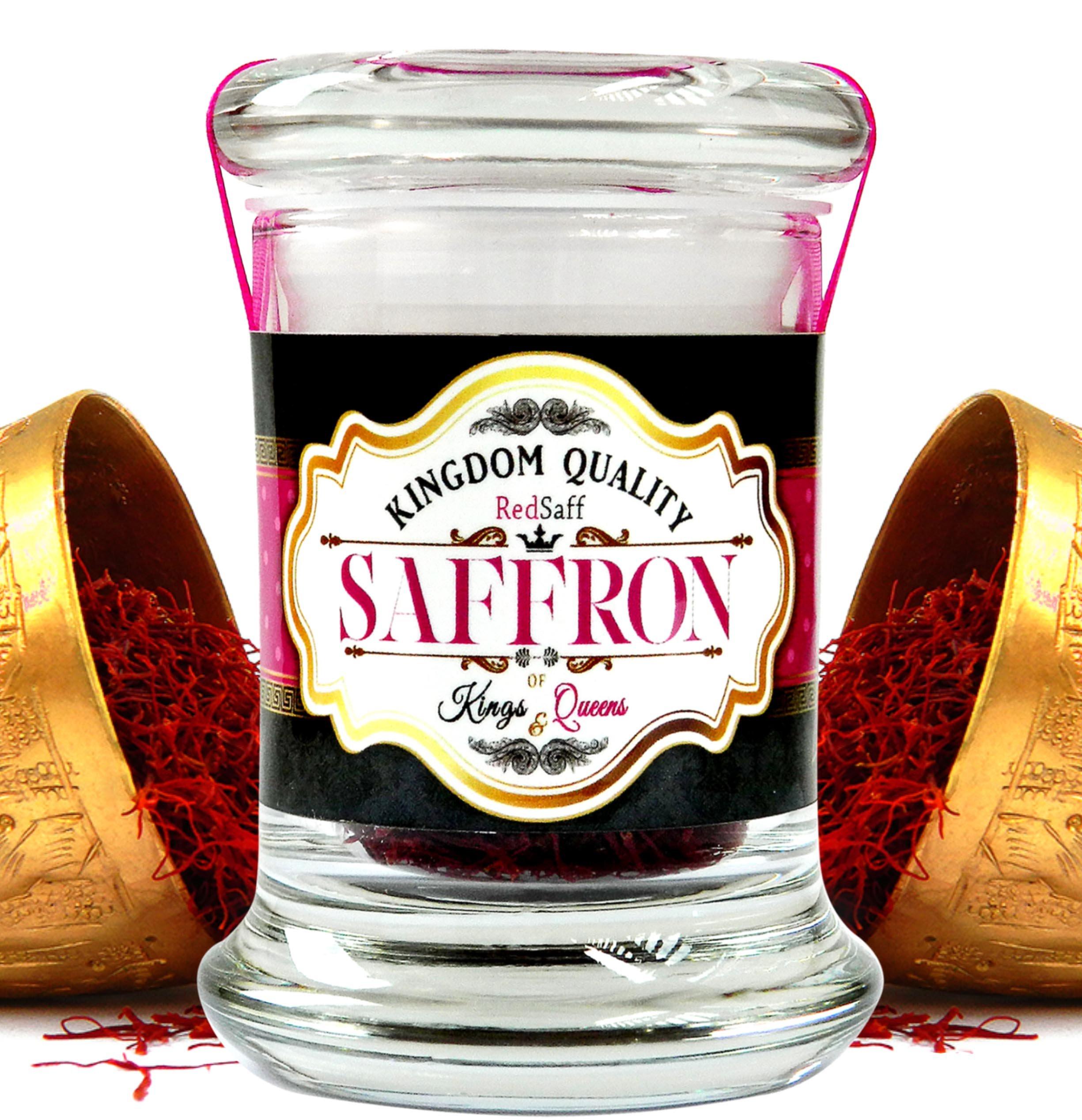 Afghan Saffron Threads (250 Average Color Reading) Kingdom Quality, All Red Premium Stigmas (0.176 once, 5 grams) by Redsaff Saffron (Image #1)