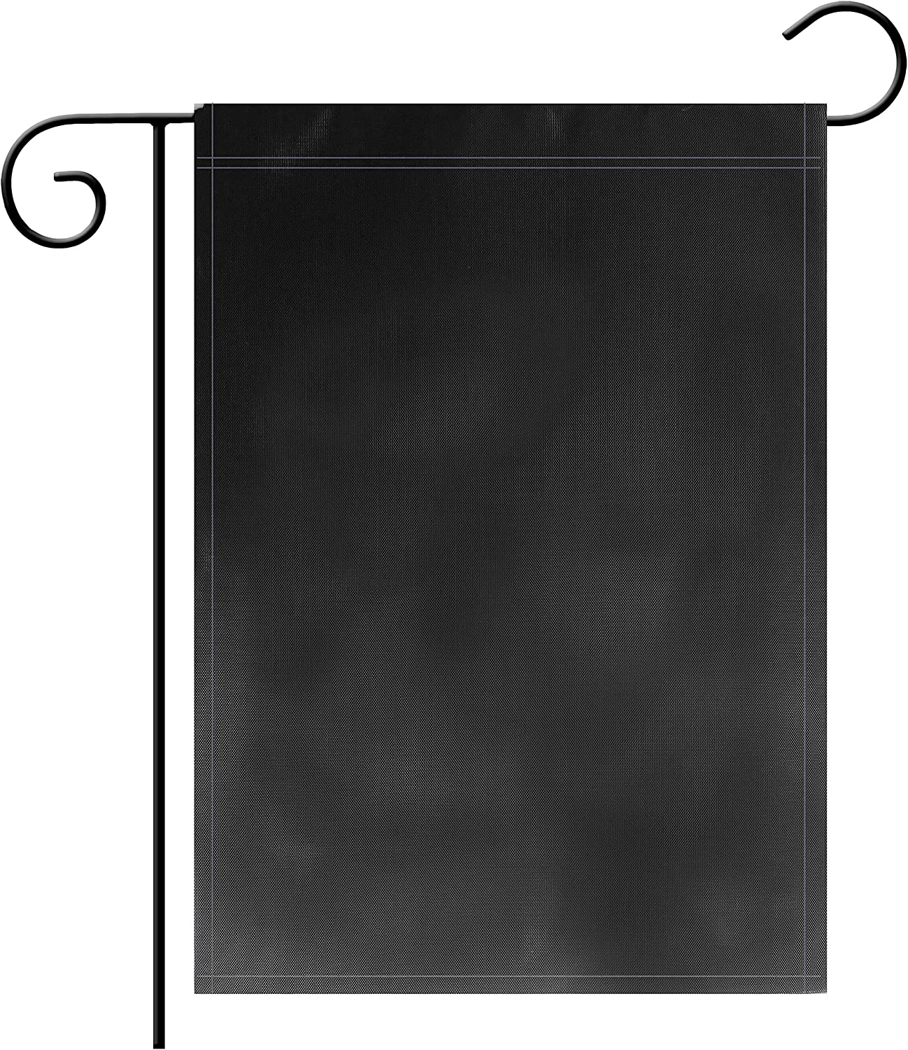 "TSMD Solid Black Blank Garden Flag Double Sided Plain Black DIY Flags,Outdoor Yard Decorative Flags,12""x 18"""