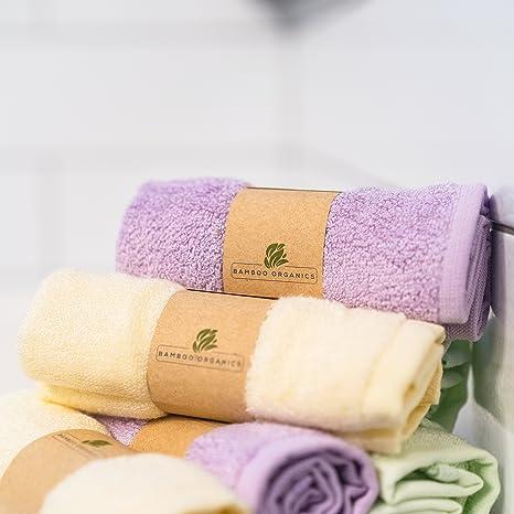 Bamboo Organics - Toallas suaves e hipoalergénicas para bebés - Ideal para pieles sensibles - Paquete de 6: Amazon.es: Bebé