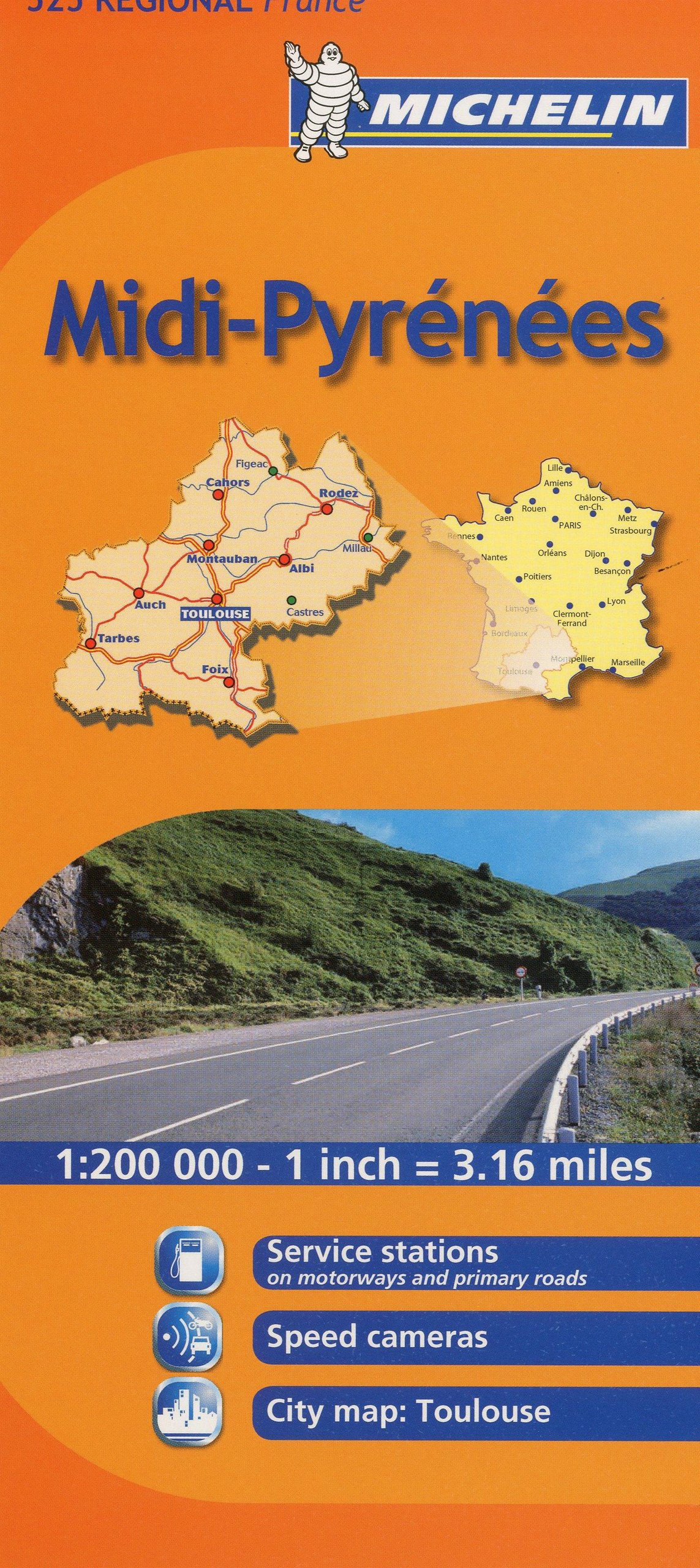 Regional Map Of France In English.Michelin Map France Midi Pyrenees 525 Maps Regional Michelin