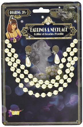 Amazon.com: 1920 de conjunto de collar de perlas y arete ...