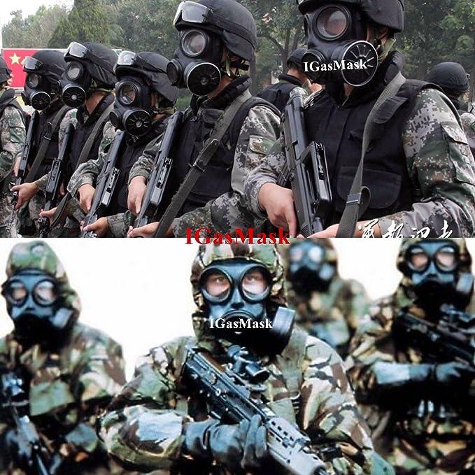 igasmask chino Militar máscara de gas FMJ08: Amazon.es: Deportes y aire libre
