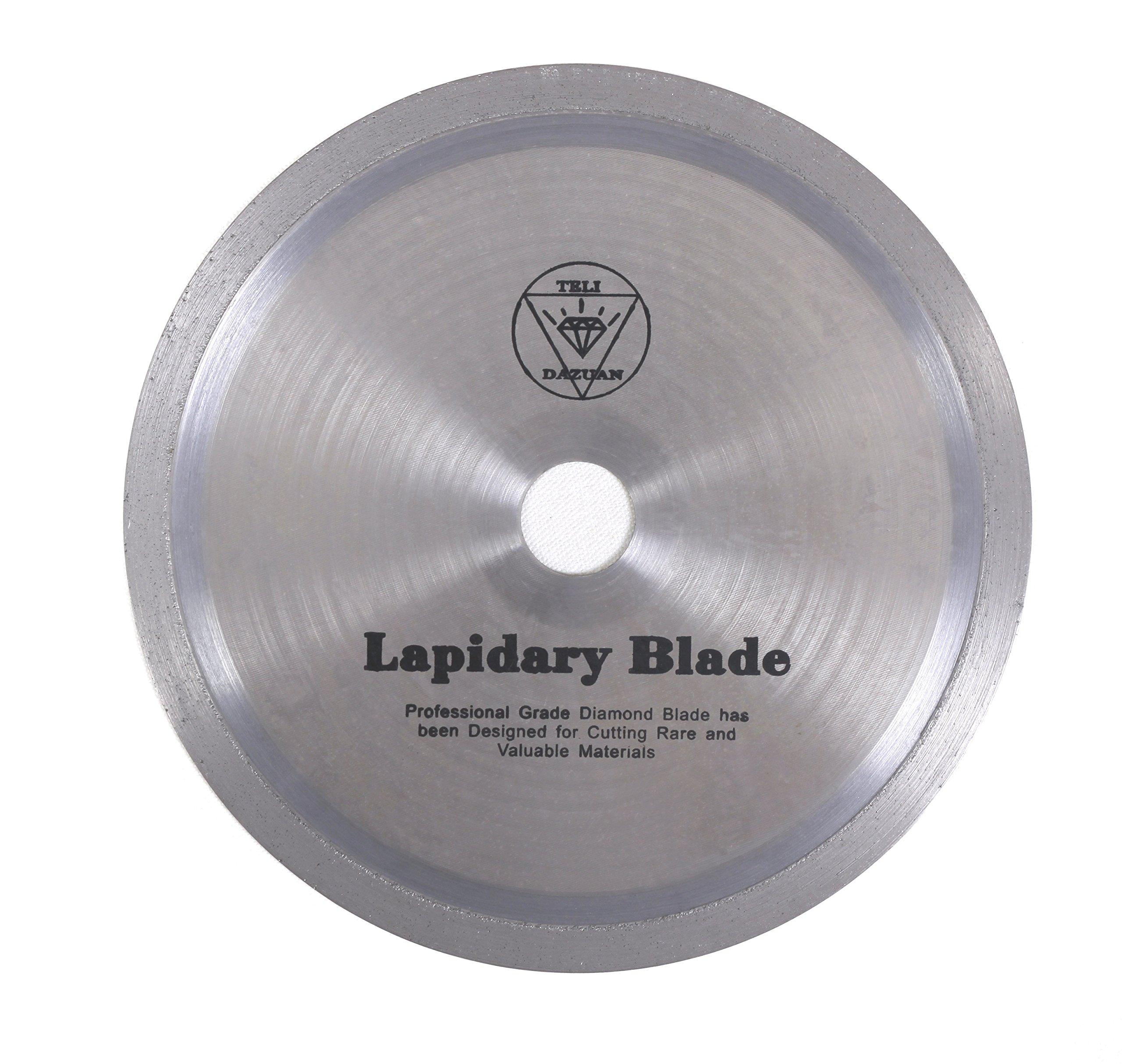 8-inch Professional Ultra Thin Diamond Lapidary Blade By 0.023-inch Wide By 1-inch (Attach a 5/8-inch Bushing) Arbor (Dazuan)