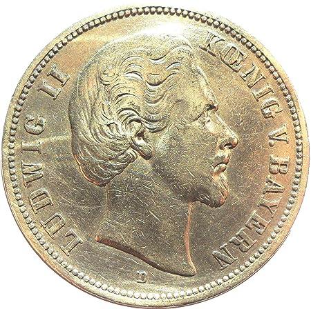 Münze 5 Mark 1874 D Ludwig Ii König Von Bayern Jäger Nr 42
