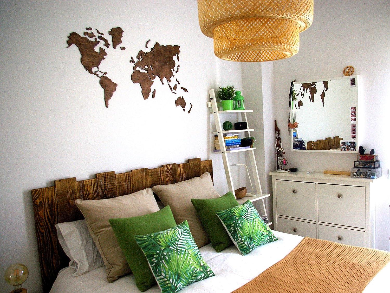 Amazon Com Wood World Map Wall Art Medium Blank Travel Map Wall