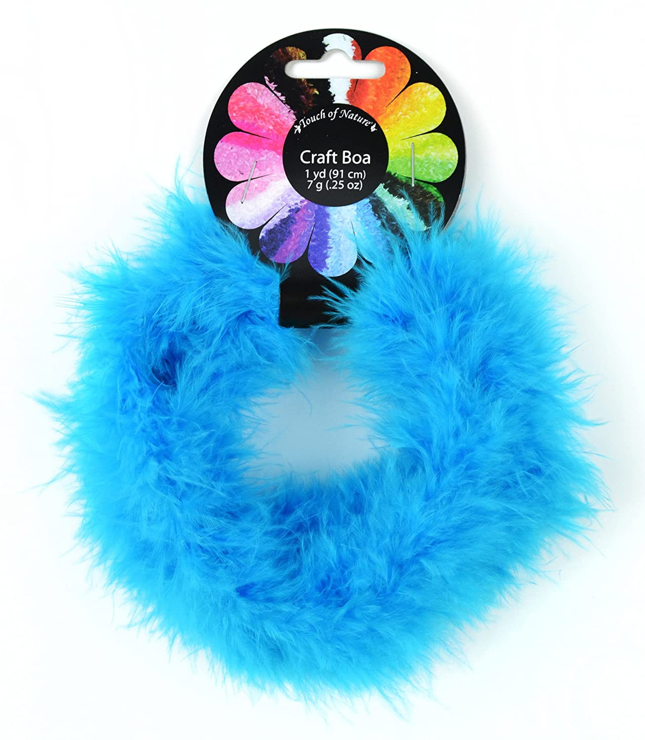 Touch of Nature 1-Piece Feather Marabou Craft Boa Turquoise 1-Yard