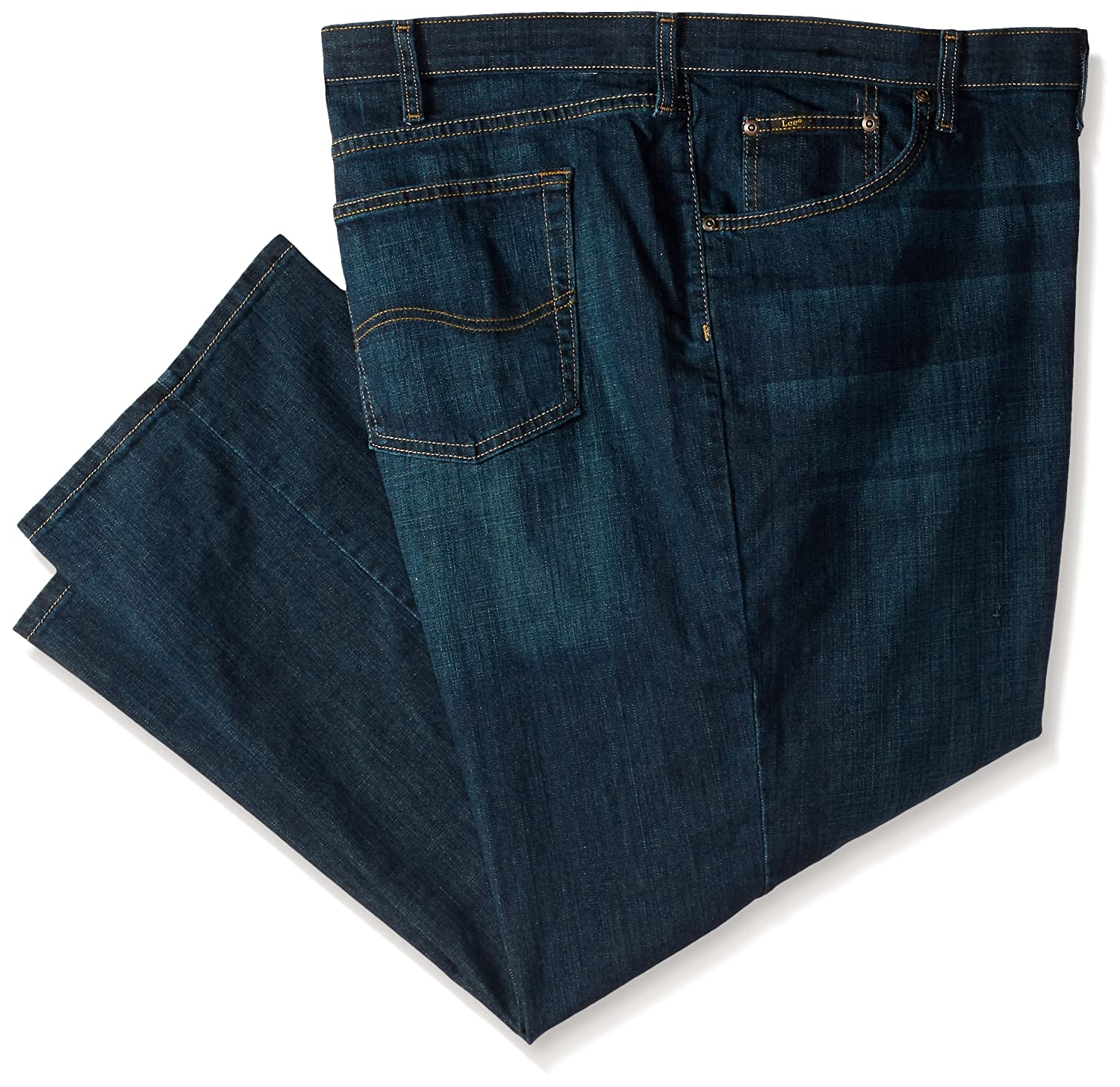 61a2172e Amazon.com: Lee Men's Big & Tall Custom Fit Relaxed Straight Leg Jean:  Clothing