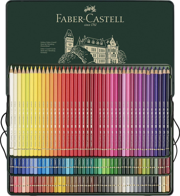 Faber-Castell 110011 - Estuche de metal con 120 ecolápices polychromos, multicolor: Amazon.es: Oficina y papelería