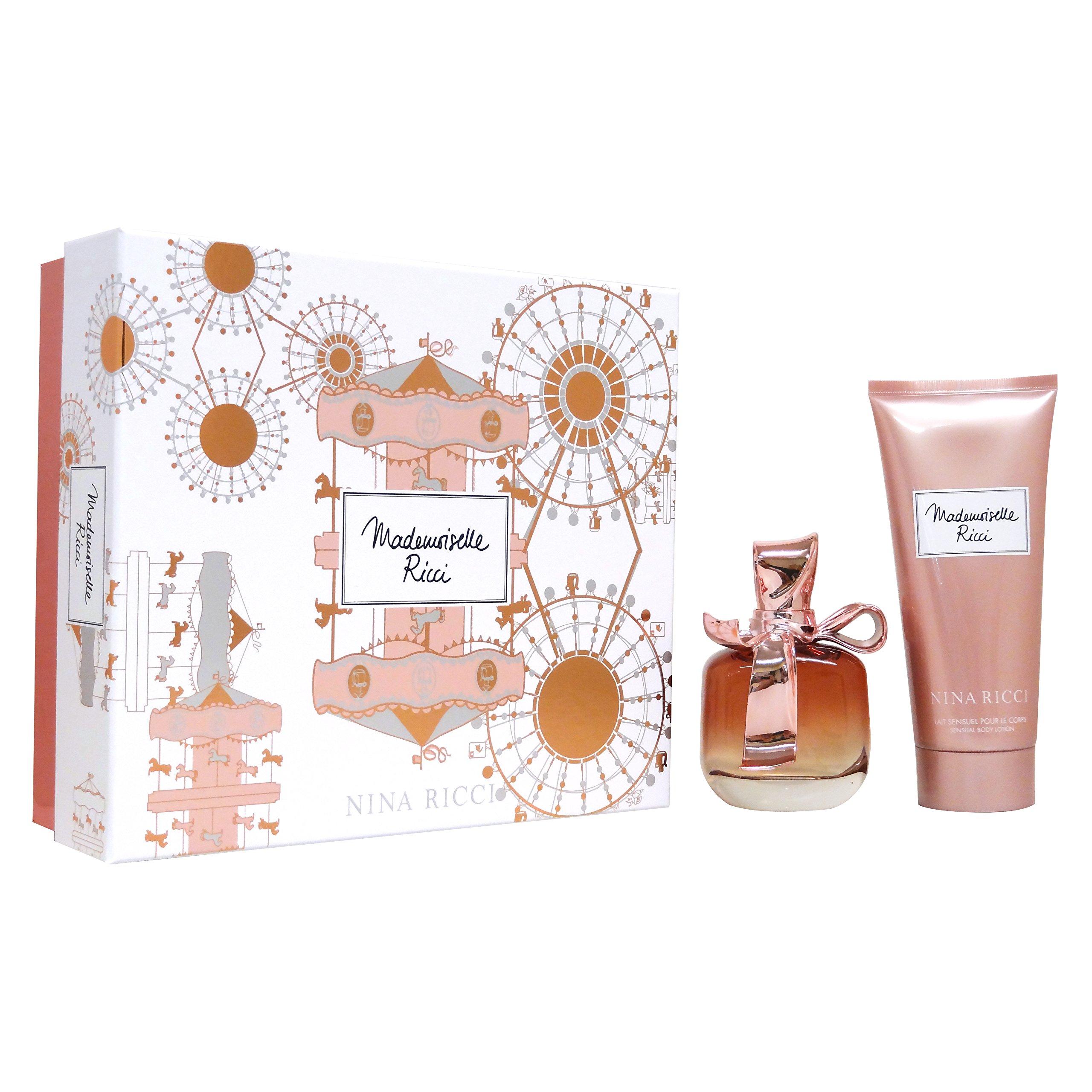 Nina Ricci Mademoiselle Ricci Gift Set 2.7oz (80ml) EDP + 6.8oz (200ml) Sensual Body Lotion