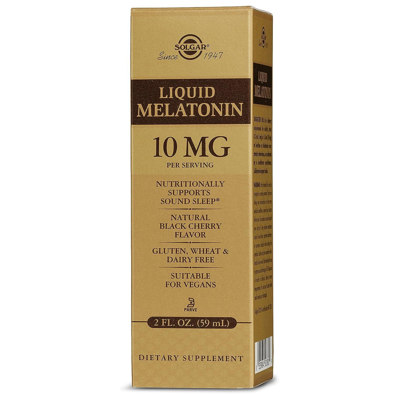 Solgar – Liquid Melatonin 10 mg, 2 Oz, Natural Black Cherry Flavor natural sleep supplements Natural sleep supplements – top 3 sleep supplements in the market 912Dd3XdmiL