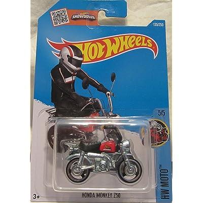 Hot Wheels, 2016 Honda Monkey Mini Bike [Black and Red] #135/250: Toys & Games