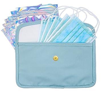 Mask Carrying Case Bag for Masks Mask Bag Clean and Dirty Bag Clean and Dirty Face Mask Bag TWO Face Mask pouches Pouch for Face Masks