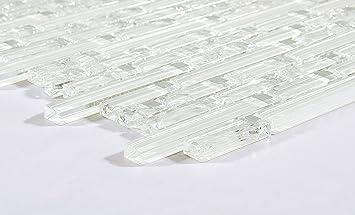 Cm Xcm Muster Klare Und Gebrochener Glas Optik Mosaik Wand - Fliesen glasoptik